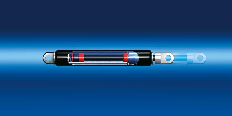 Sprężyny gazowe ciągowe Bansbach