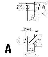 Podnośniki hydrauliczne - połączenie osłon typ 1