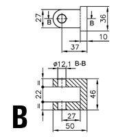 Podnośniki hydrauliczne - połączenie osłon typ 2